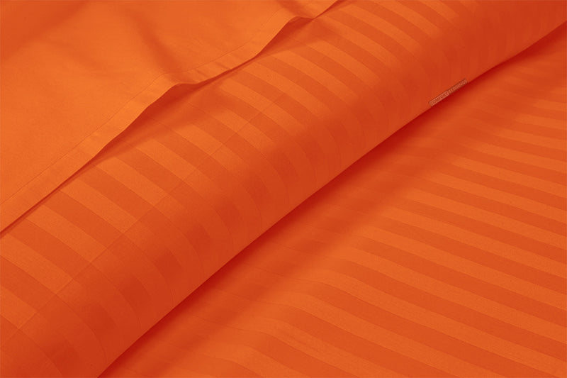 600 TC Orange Striped Sheet Set