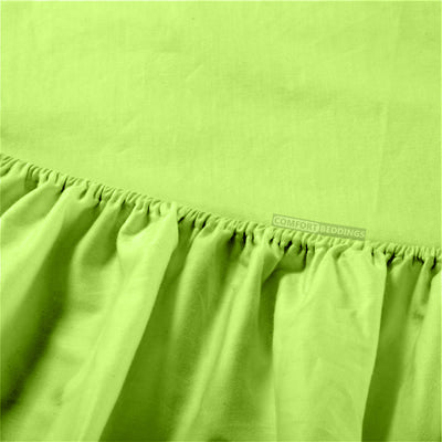 100% Egyptian Cotton Parrot Green round bed sheets