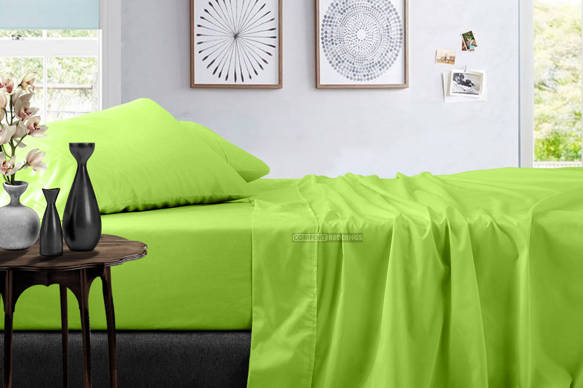 Top Quality 600 TC Parrot green Sheet Set