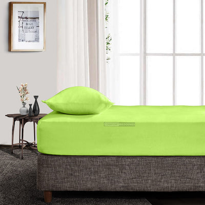 600 Thread Count Parrot Green Fitted Sheet
