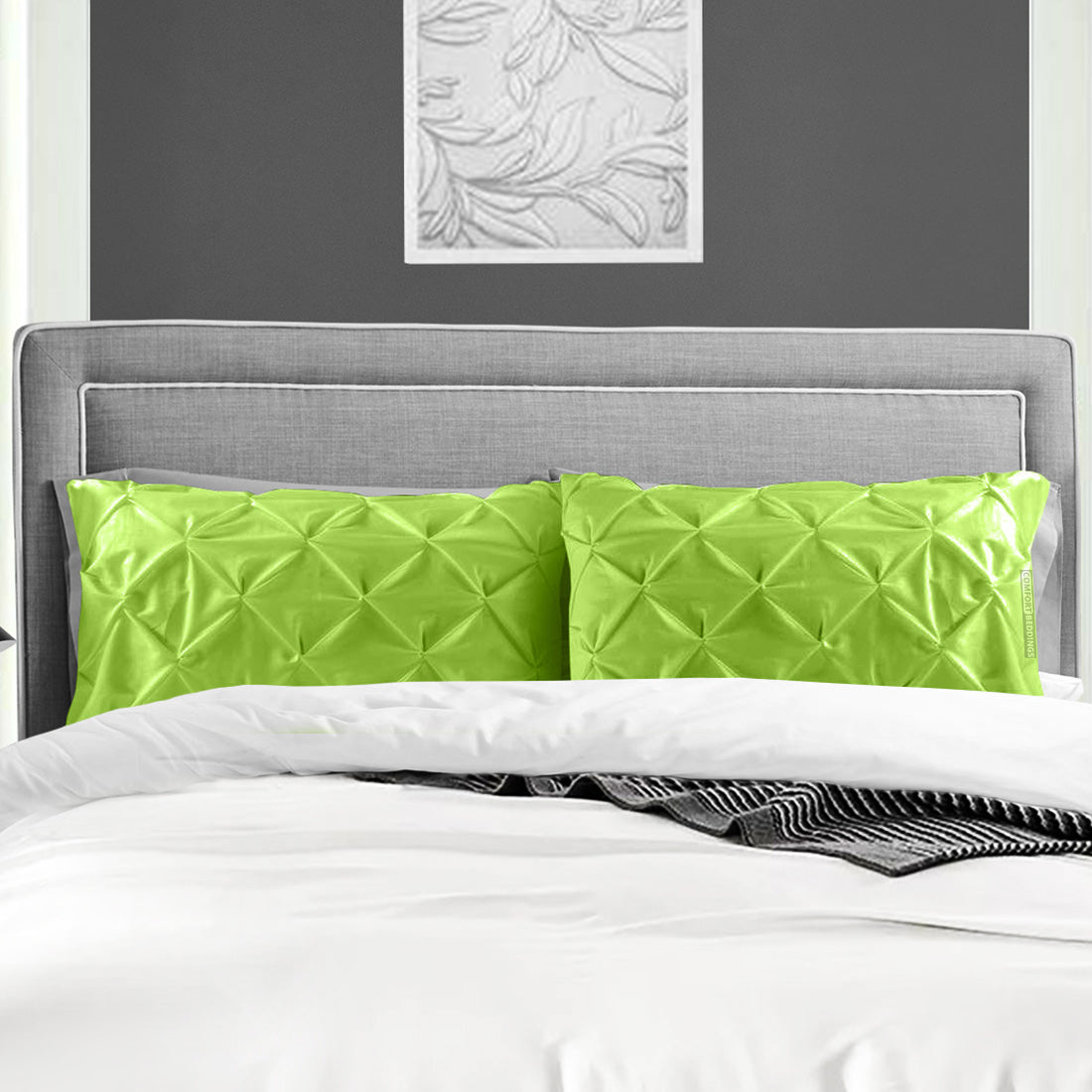 Most selling parrot green pinch pillow cases