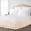 1000 Thread Count Peach Multi Ruffled Bed Skirt