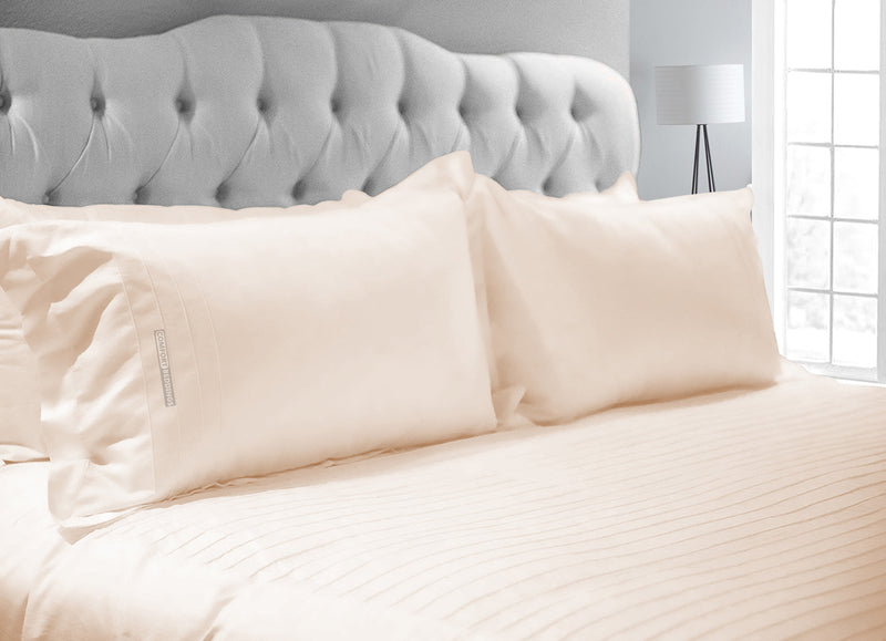 Luxurious Peach Moroccan Streak Duvet Cover And Pillowcases