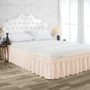 Luxury Peach Wrap Around Bed Skirt