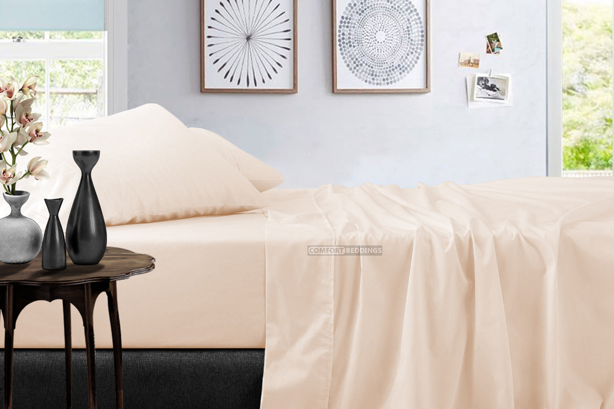 Top Quality 600 TC Peach Bed Sheet Set