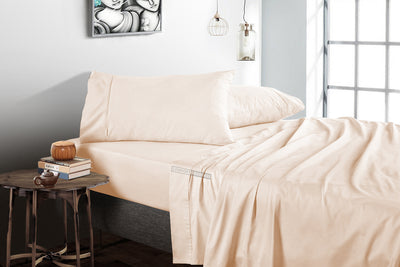 1000 Thread count Peach flat bed sheets