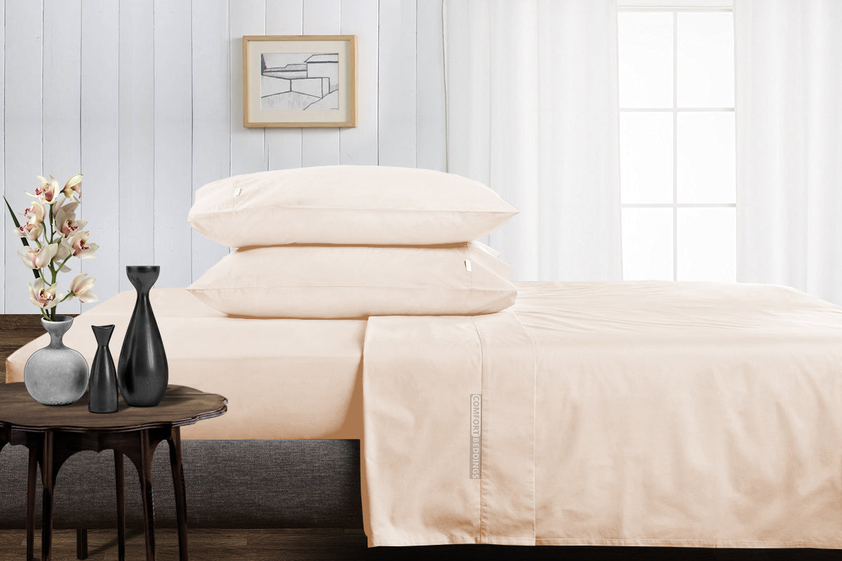 1000 Thread Count Peach Split Bed Sheets Set