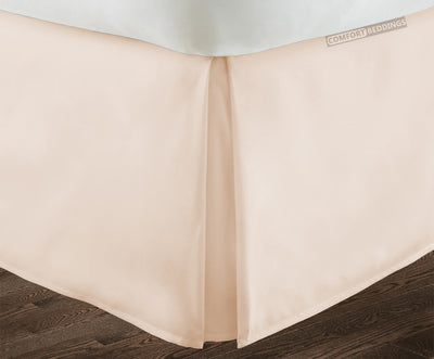 Luxury 600tc peach pleated bed skirt