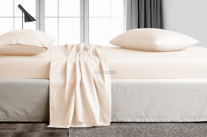 600 Thread count Peach flat bed sheets
