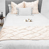 Luxurious Peach pinch bed runner