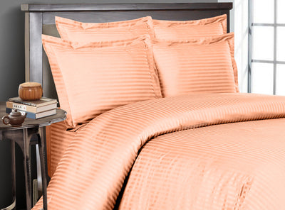 Peach Striped Bedding In a Bag