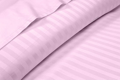 Beautiful Pink Striped Sheet Set