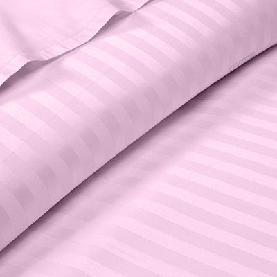 Pink Striped 600 TC Fitted Sheets - 100% Egyptian Cotton