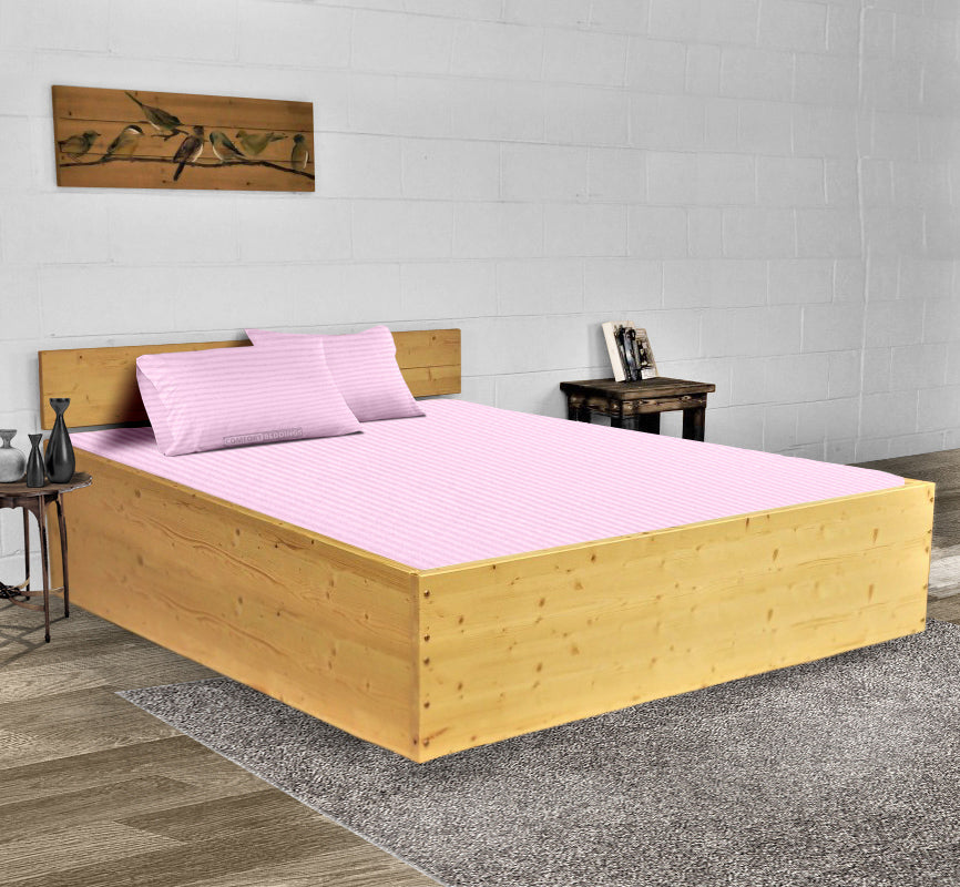 Luxury 600TC Pink Striped Waterbed Sheets