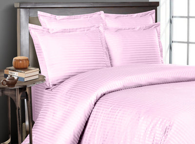 Pink Striped Bedding In a Bag