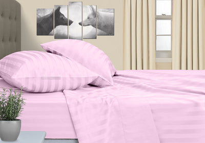 Elegant Pink Striped RV Sheet Set