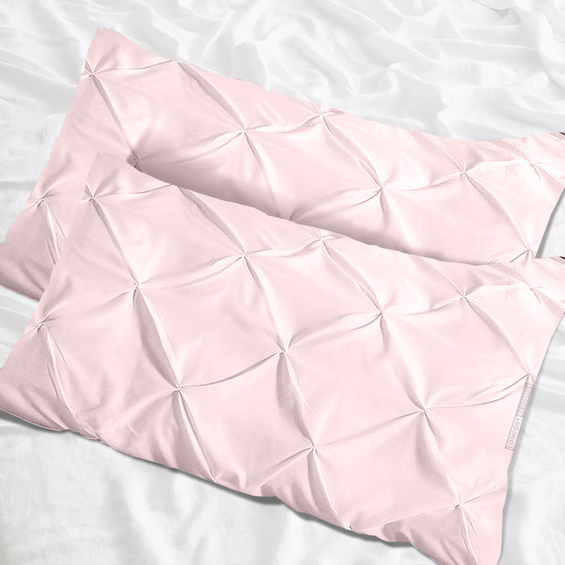 Luxury  pink pinch pillow cases