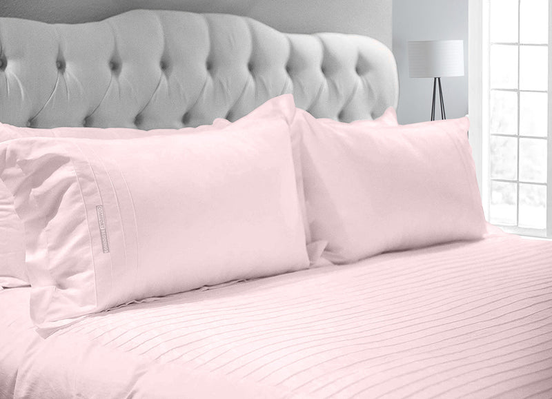 Luxurious Pink 600 TC Moroccan Streak Duvet Cover