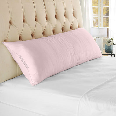 600 TC pink body pillow covers