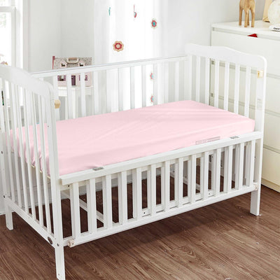 Very Soft Pink Fitted Crib Sheets - 600TC