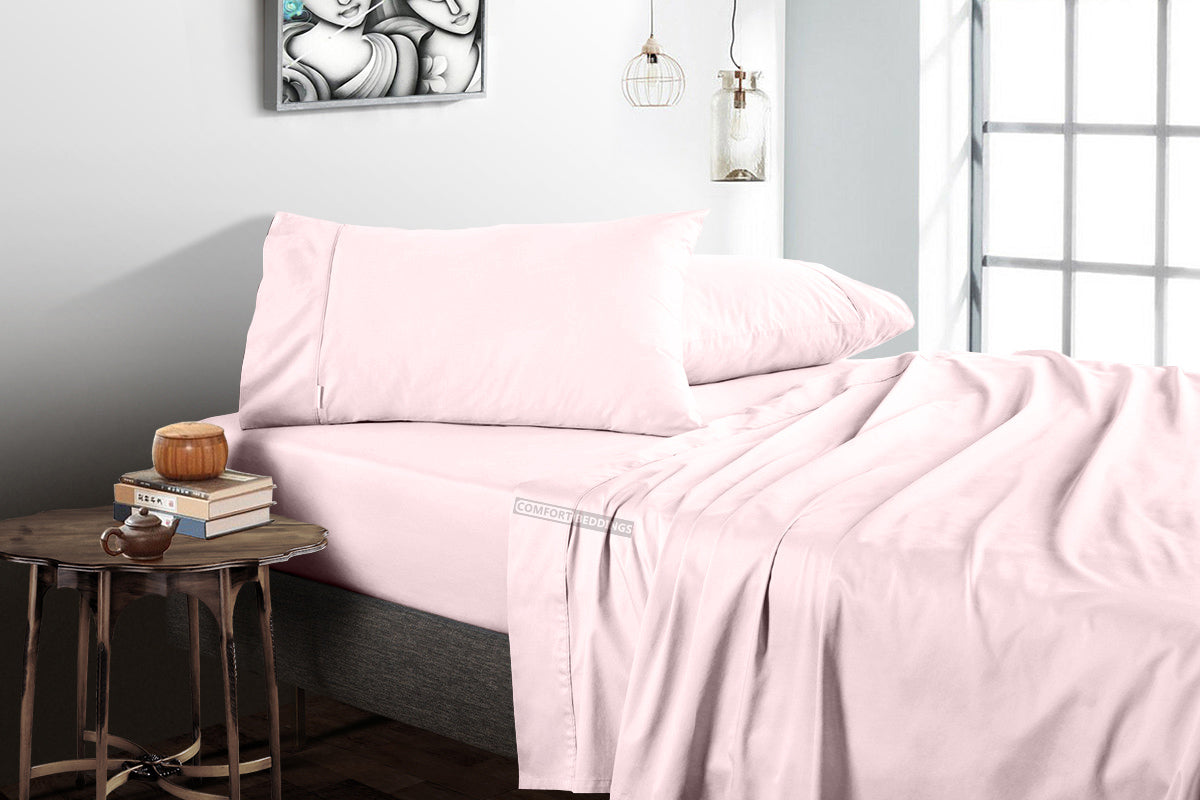 Soft Luxurious Pink Flat Sheets