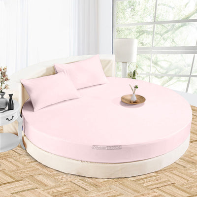 Beautiful Pink circular bed sheets