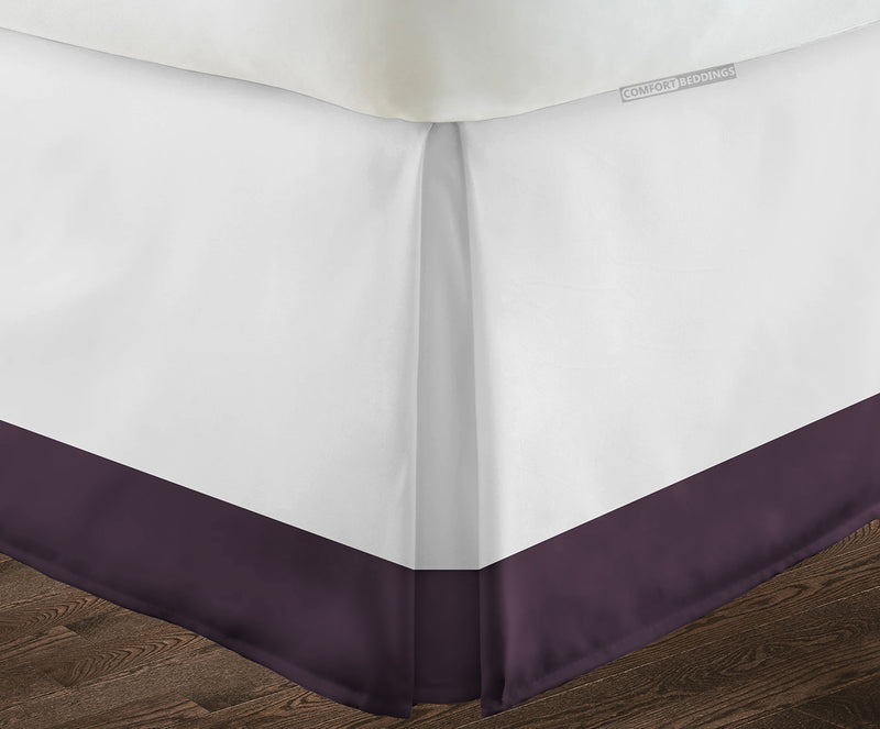 600TC Plum two tone bed skirt