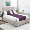 Top Quality Plum - White Contrast Fitted Sheet