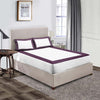 1000TC Plum  - White two tone fitted sheets