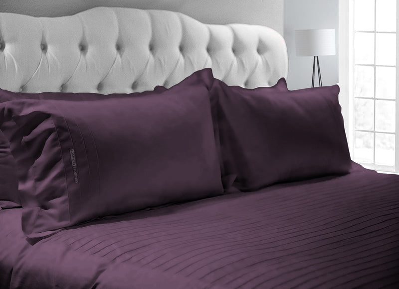Luxury Plum Moroccan Streak Duvet Cover And Pillowcases