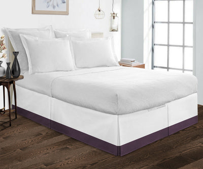1000TC Plum two tone bed skirt