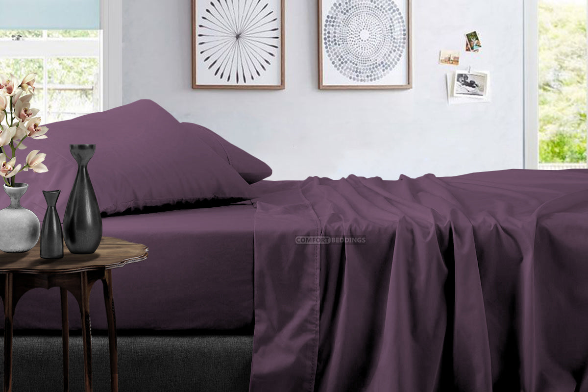 1000 Thread Count Plum Sheet Set