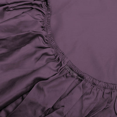 Top Quality 1000TC Plum Fitted Sheet