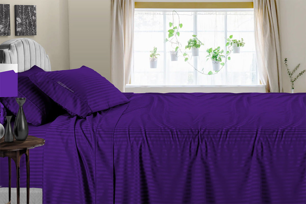 Top Selling Purple Stripe Sheet Set