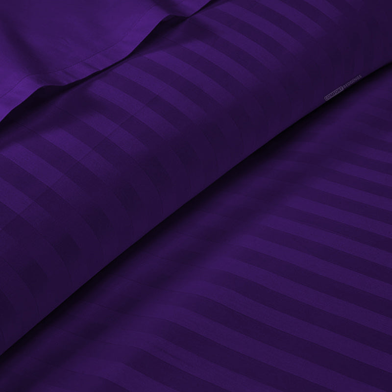 Luxury Purple Stripe Duvet Cover - 600TC
