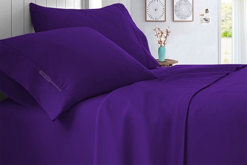 Luxurious Purple bed Sheet Set