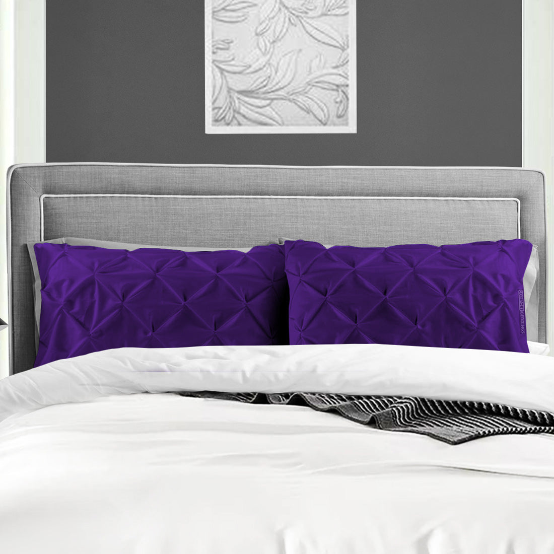 Luxury purple pinch Pillow Case