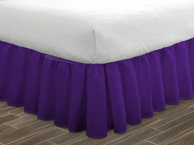 Top Selling Purple Ruffle Bed Skirt