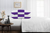 Cozy Purple  - white chex pillowcases