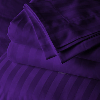 Classy Purple Striped Body Pillow Cases