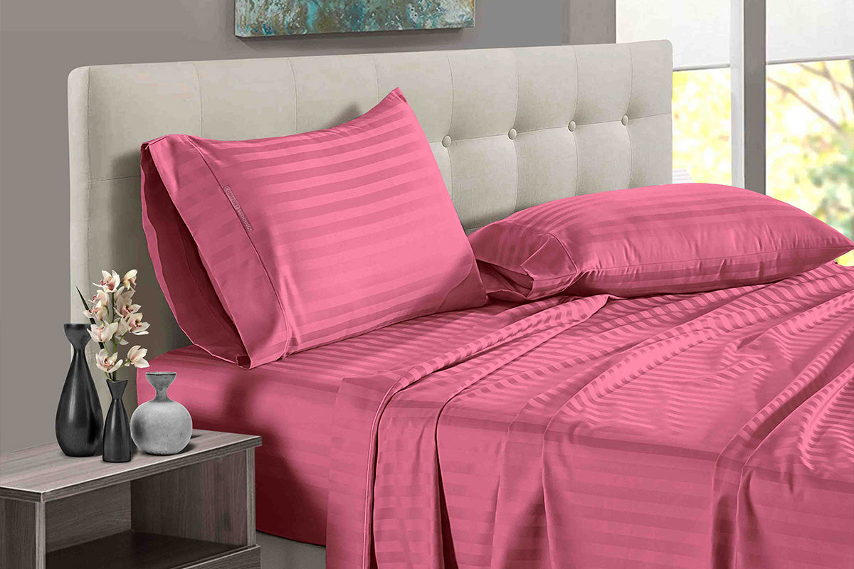 Adjustable Roseberry Stripe Split Bed Sheets