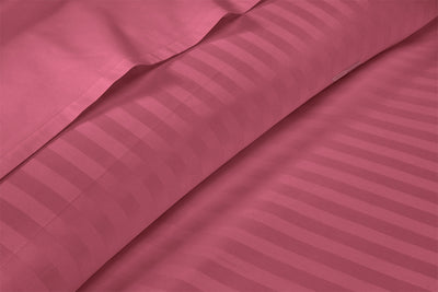 Beautiful Rose berry stripe pillow case covers