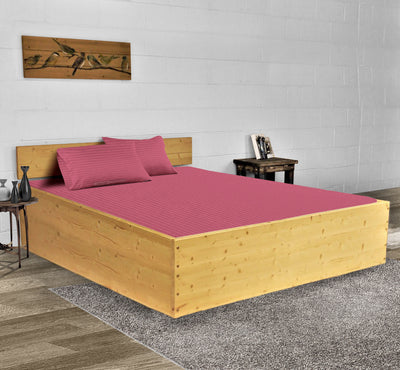 Luxury 600TC Rose berry Stripe Waterbed Sheets