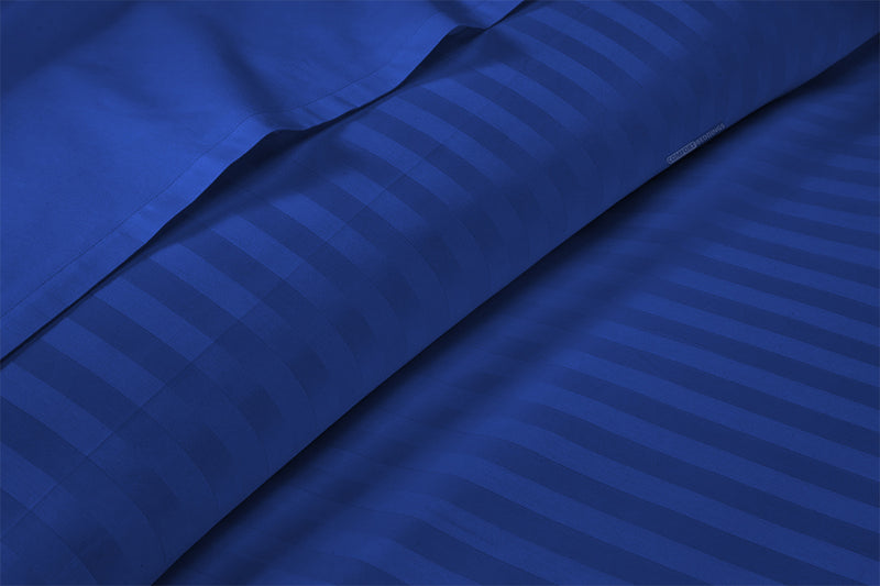 Luxury Royal blue Stripe Split Sheet Set