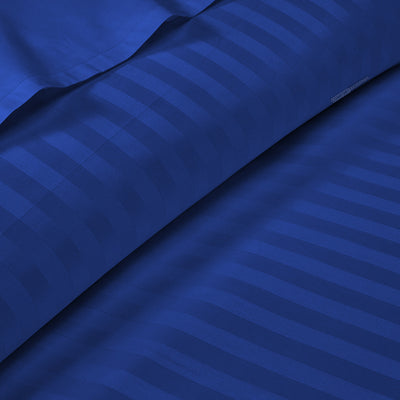 100% Egyptian Cotton - Royal blue Stripe Fitted Sheets