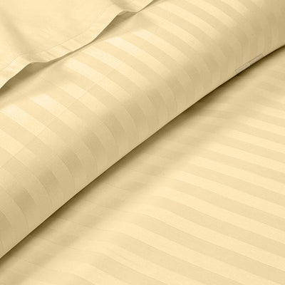 100% Egyptian Cotton Rust Stripe Fitted Sheets