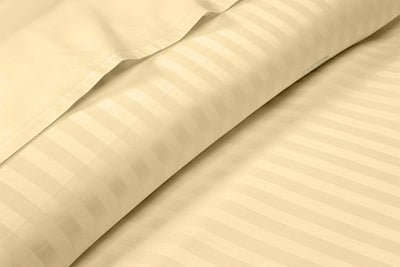 Luxury Rust Stripe Flat Sheet
