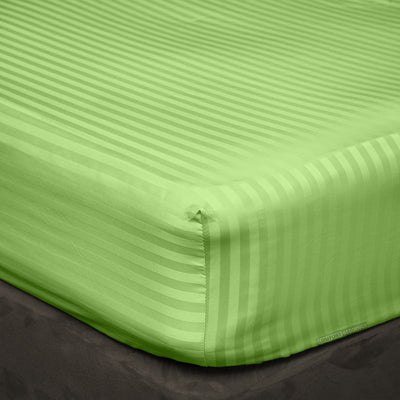 Sage Striped 600 TC Fitted Sheets