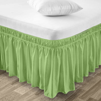 600 TC Sage Wrap Around Bed Skirt