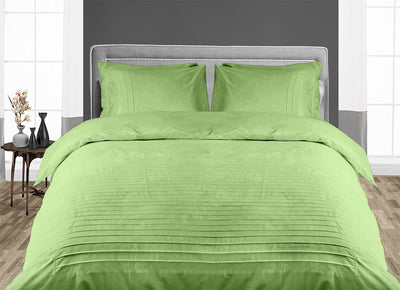 Luxurious Sage 600 TC Moroccan Streak Duvet Cover